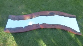 large wall mirror in redgum
