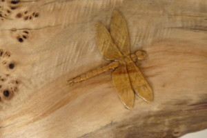 Dragon fly on carved frame